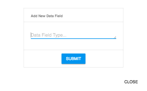 Dialog with text field asking for the data field name