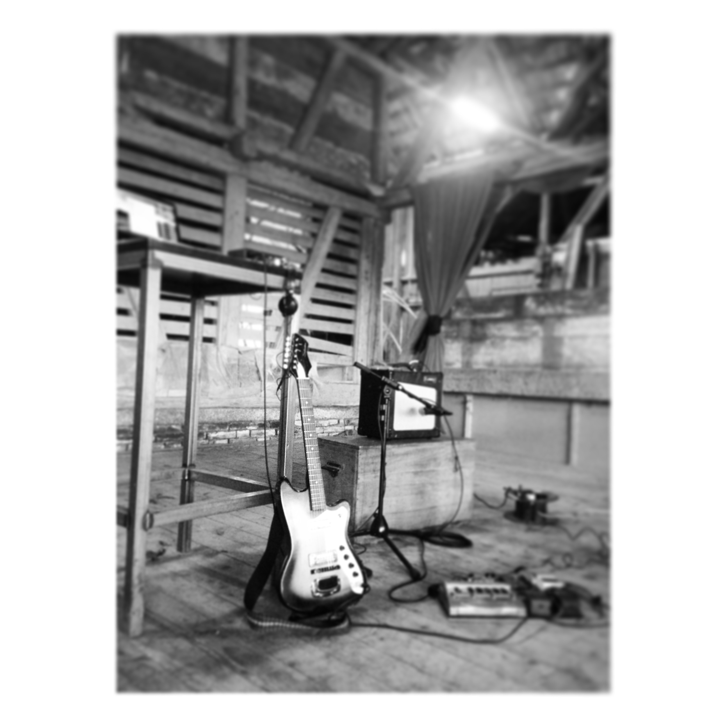 Recording in a barn, cowbells not pictured