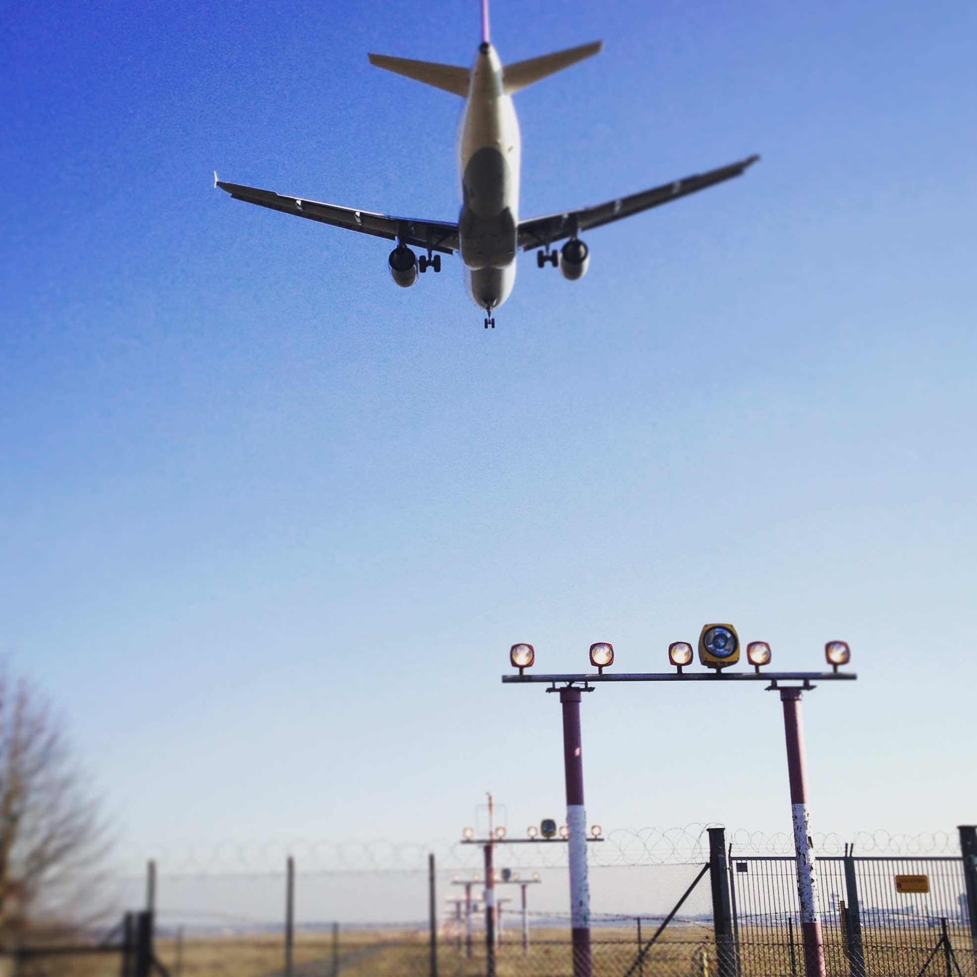 Running past the approach to Tegel airport