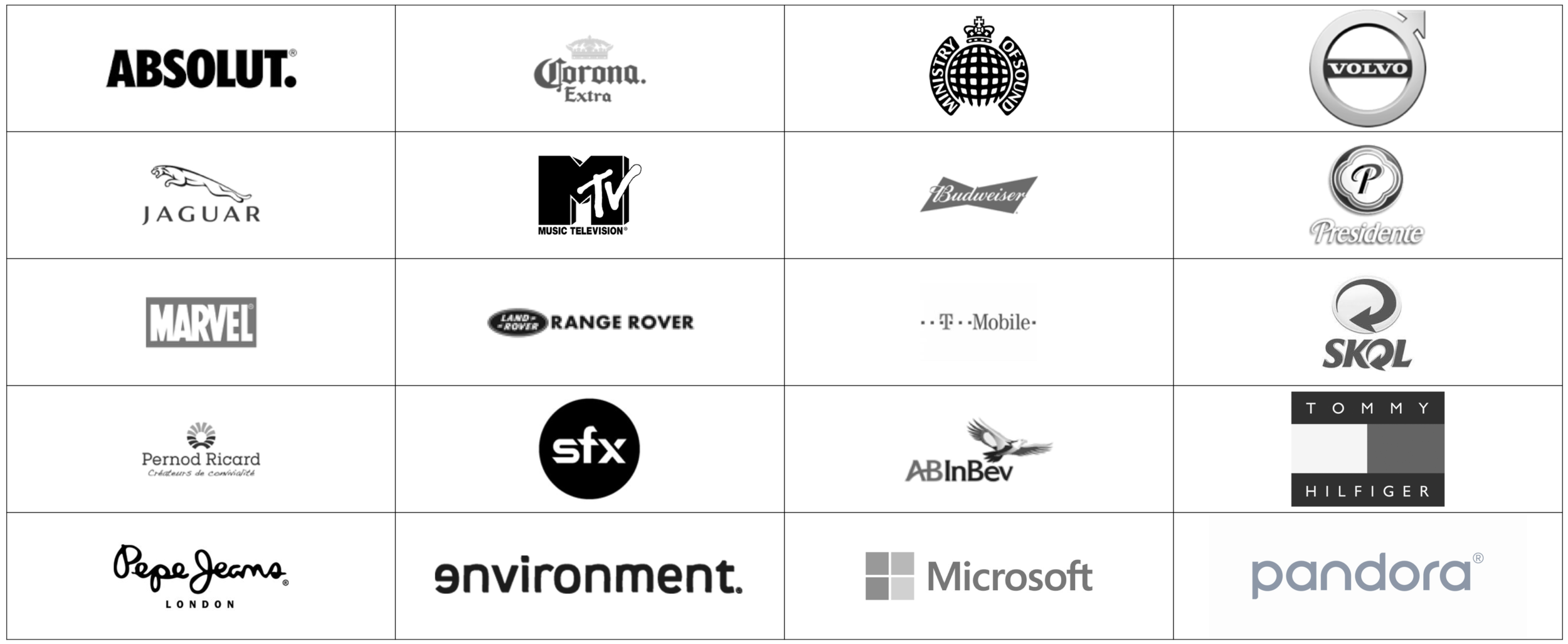 A Selection Of The Brands CR8 Has Worked With To Develop Culture Based Strategy And Executions