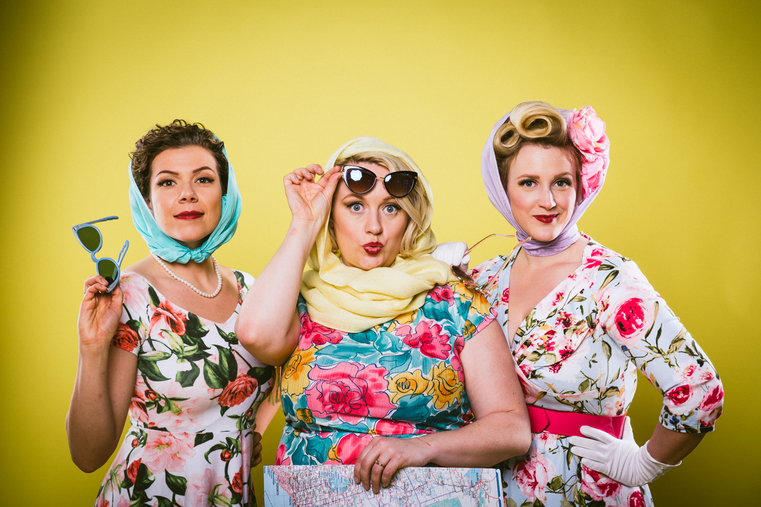 Photo by Matt Braden Photography. Alexis, Farideh, and Allyson are wild about retro style and their photos appear in newspapers, magazines, and blogs across Canada and the US.