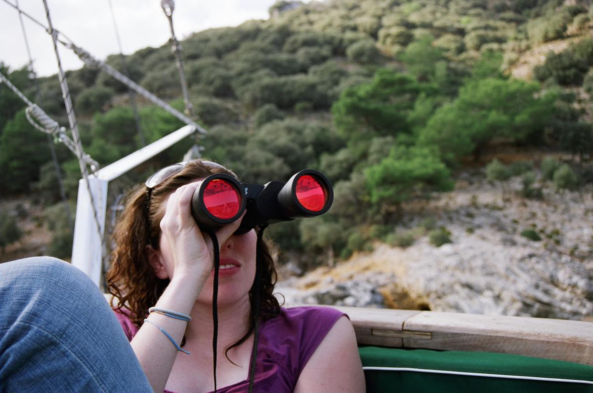 D with Binoculars, Turkey, 2006  by Ivette Spradlin