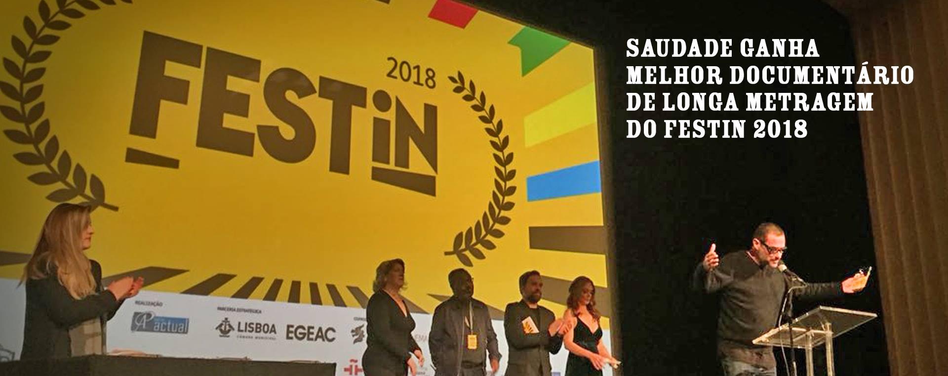 PRÊMIO - MELHOR DOCUMENTÁRIOFESTin LISBOA 2018