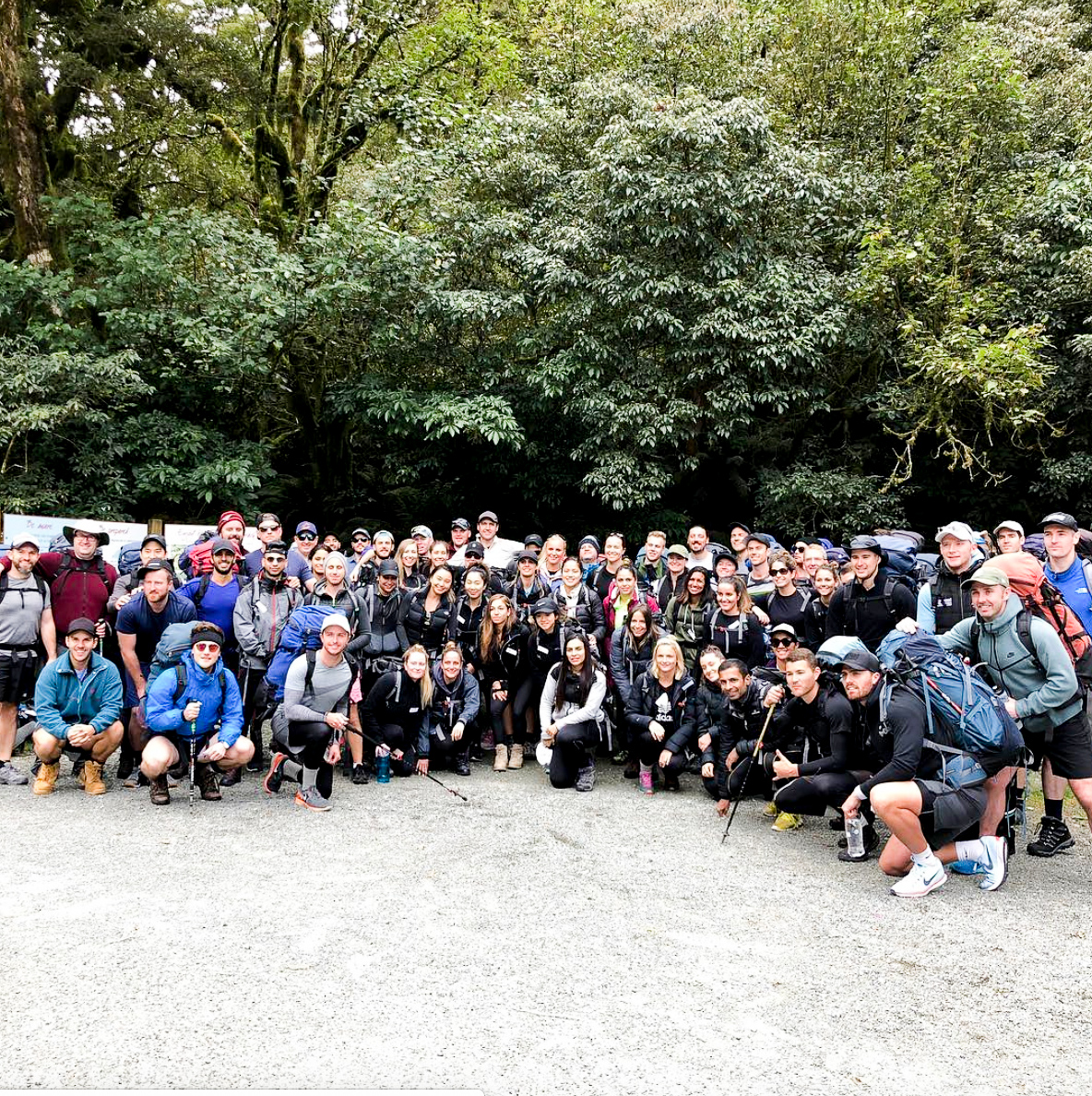 Sharp & Carter family at Routeburn Track, New Zealand 2018