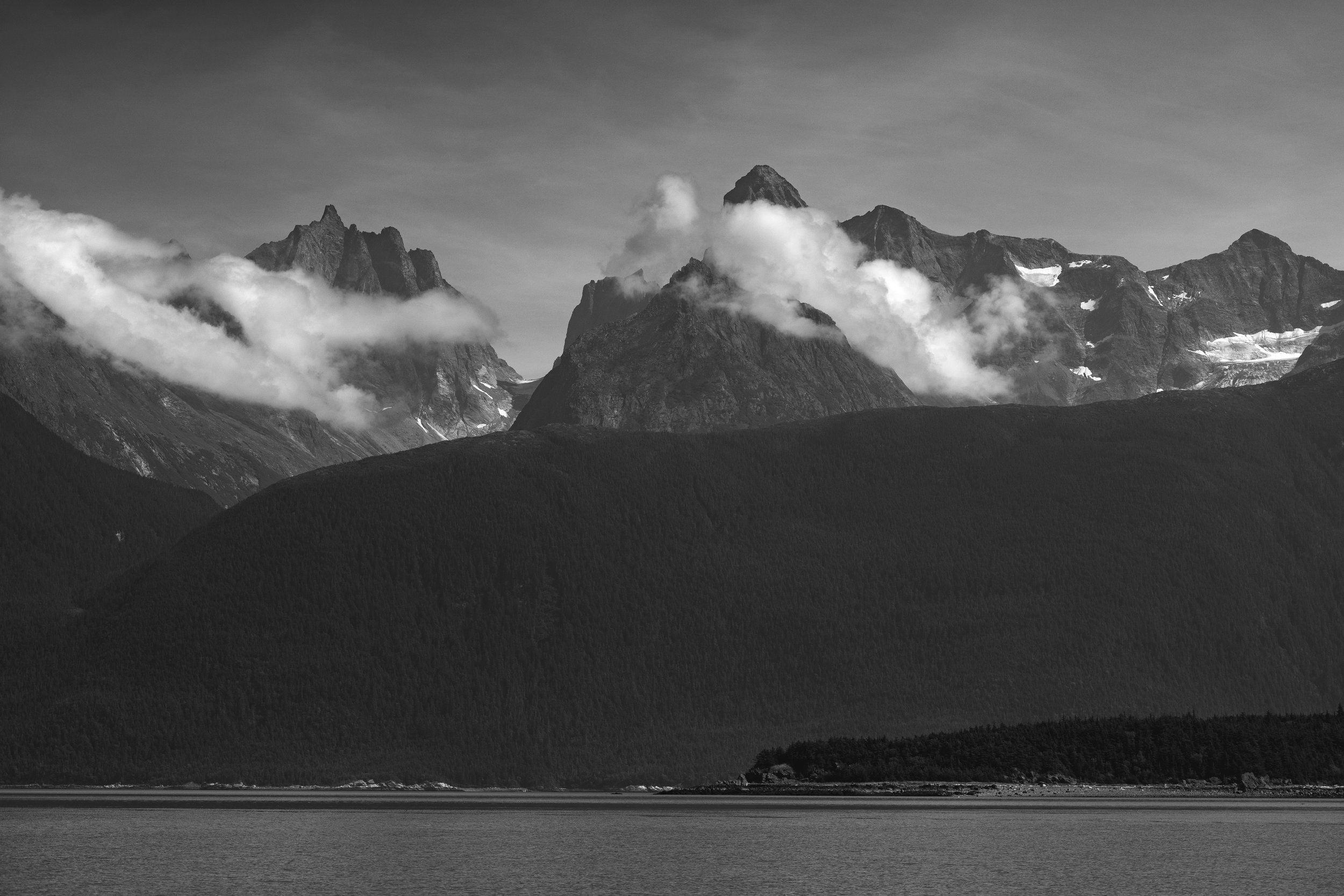 Chilkoot Inlet and the Coast Range, Alaska, August 2019