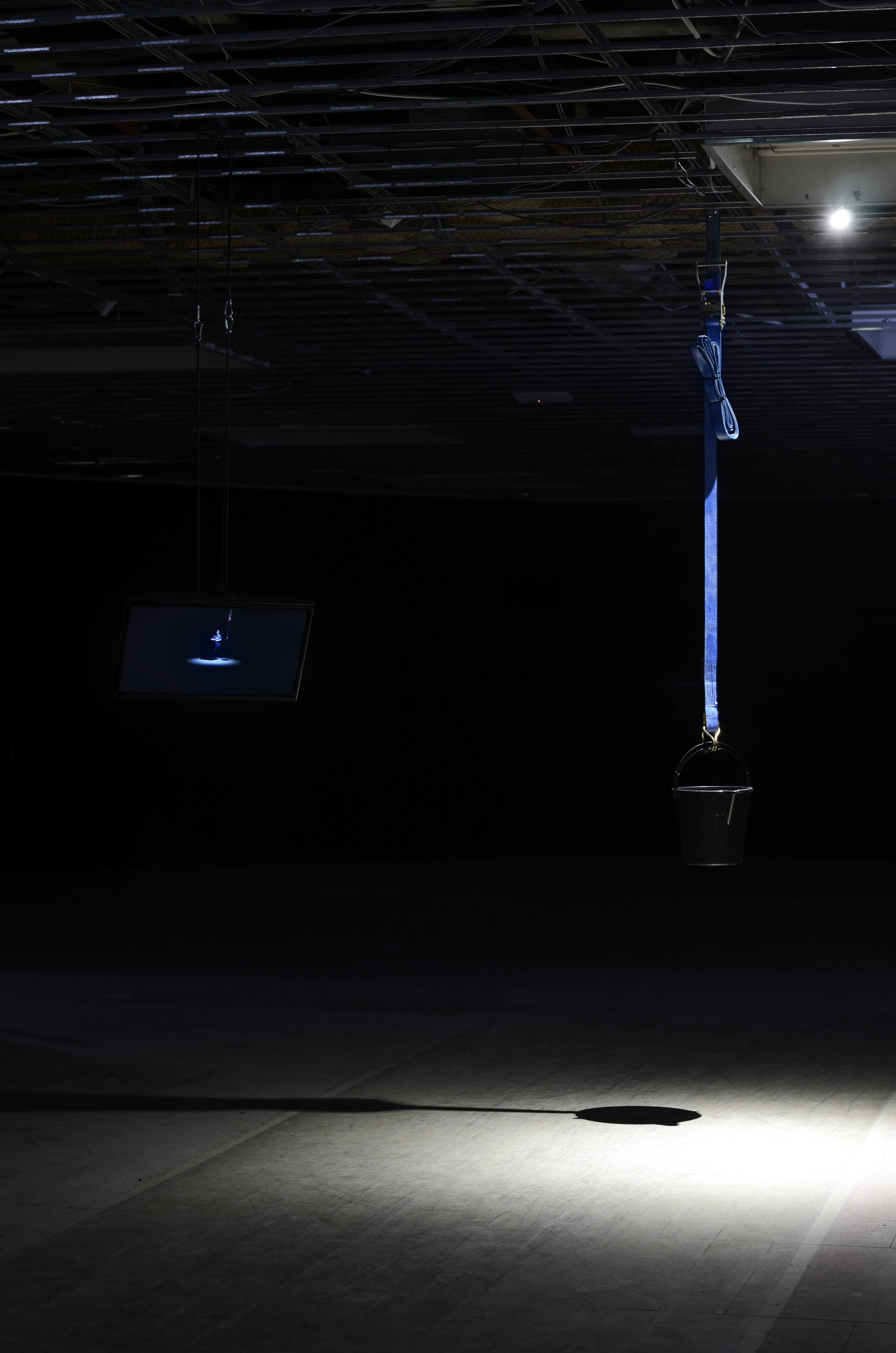 Anna McMahon,  You were always on my mind,  2016, installation view of performance set and documentation, 2 September, 2016 at Success Gallery, Fremantle, 08:45. Image courtesy of Success. Photography: Dan McCabe
