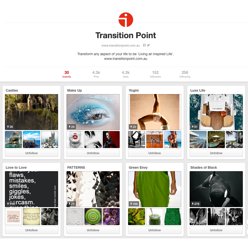 From luxury living, travel, interior design, health and fine food – 30 boards of visual inspiration to get you started.