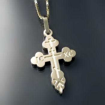 Gold Orthodox Crosses ZD-E7 (lighter style)