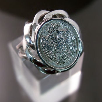 Serbian Coat of Arms Crest Ring