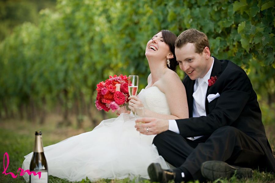 Elegant winery wedding of real Toronto couple