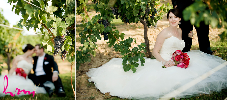 vintage bridal style winery wedding