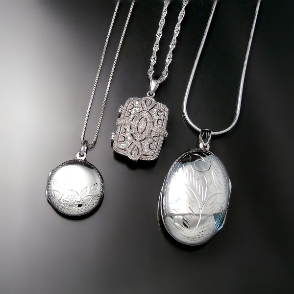 Mother's Day Jewellery: Silver lockets available at Zoran Designs Jewellery Hamilton Burlington Oakville