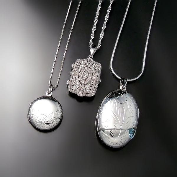 Mother's Day Jewellery: Silver lockets available at Zoran Designs Jewellery Hamilton Burlington Oakville