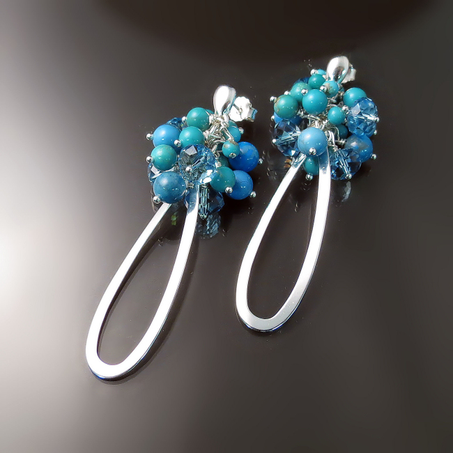 modern turquoise jewelry elegant sophisticated turquoise earrings