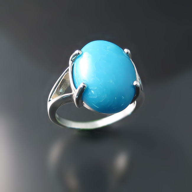 turquoise jewelry modern sterling silver ring with turquoise gemstone