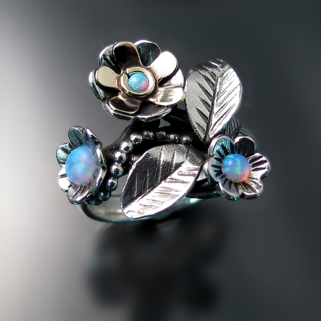 flower ring spring jewelry nature inspired jewellery