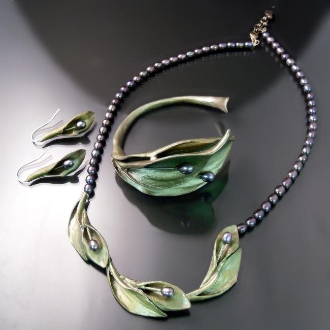 hosta botanical jewellery necklace bracelet earrings gta toronto hamilton oakville burlington