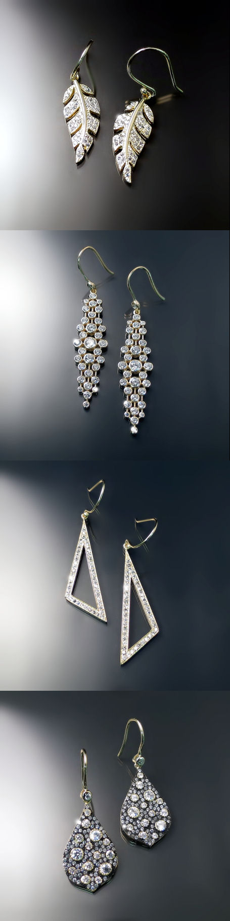 cubic zirconia cz jewelry sparkly gold statement earrings