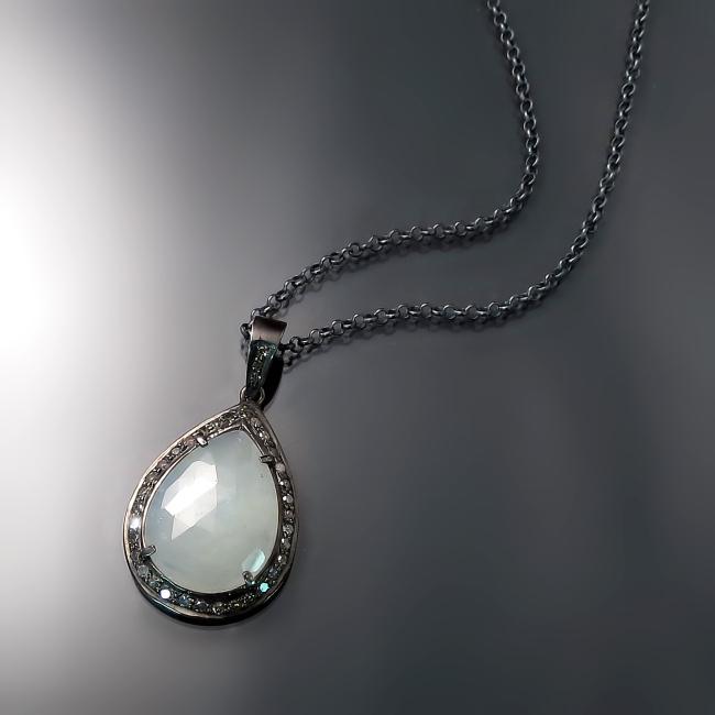 pale blue sapphire pendant