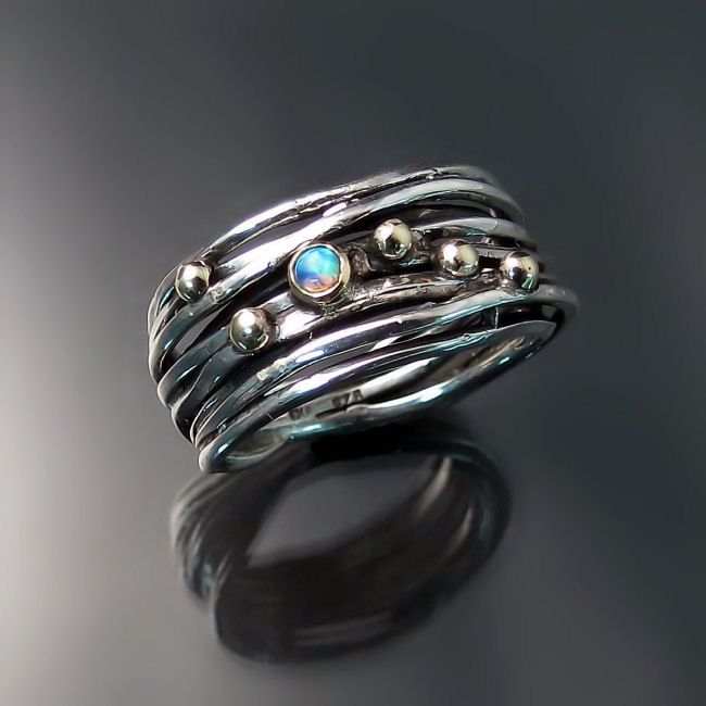 unique silver ring