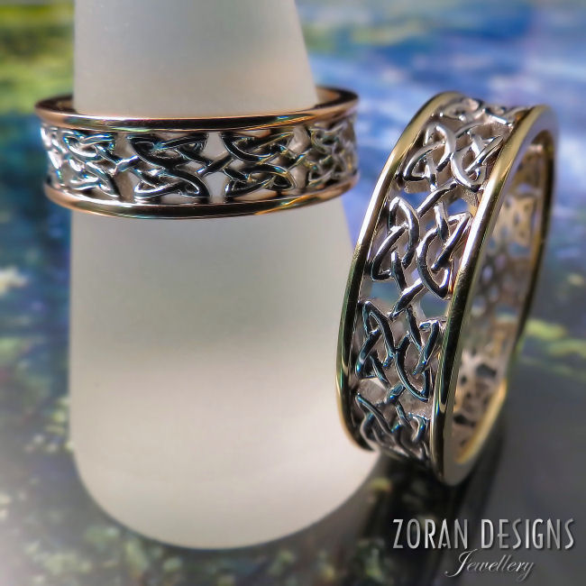 Custom jewellery design: Celtic wedding bands