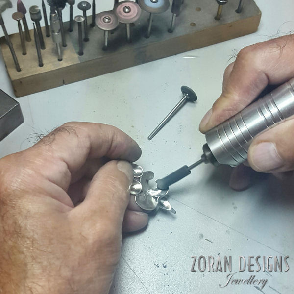 Making jewelry: polishing