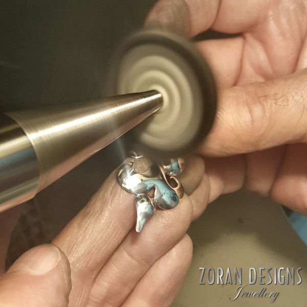 Jewelry making: buffing