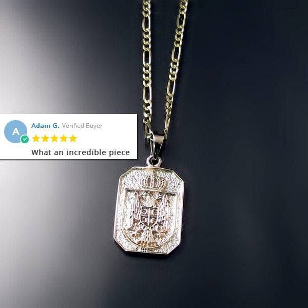 Serbian Jewelry: Coat of arms pendant