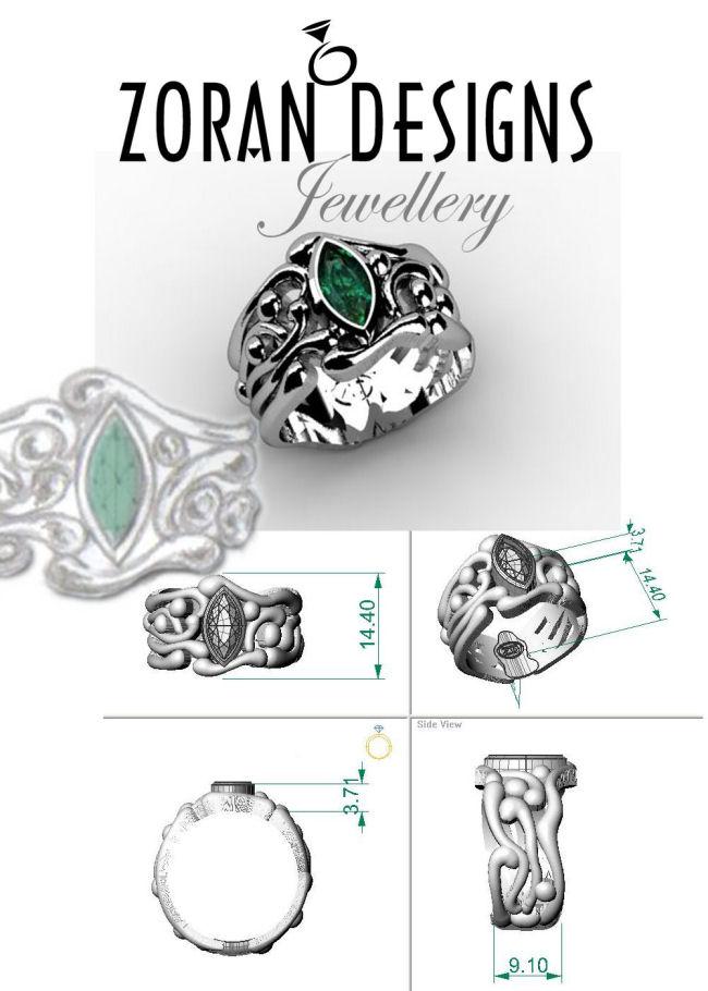Design renders for custom ring