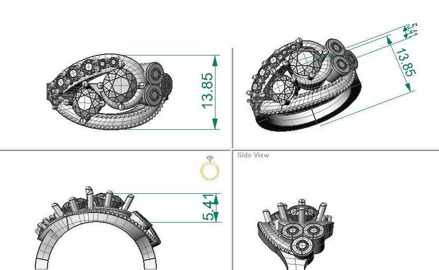 Custom jewelry design - Hamilton Jeweler Zoran Designs