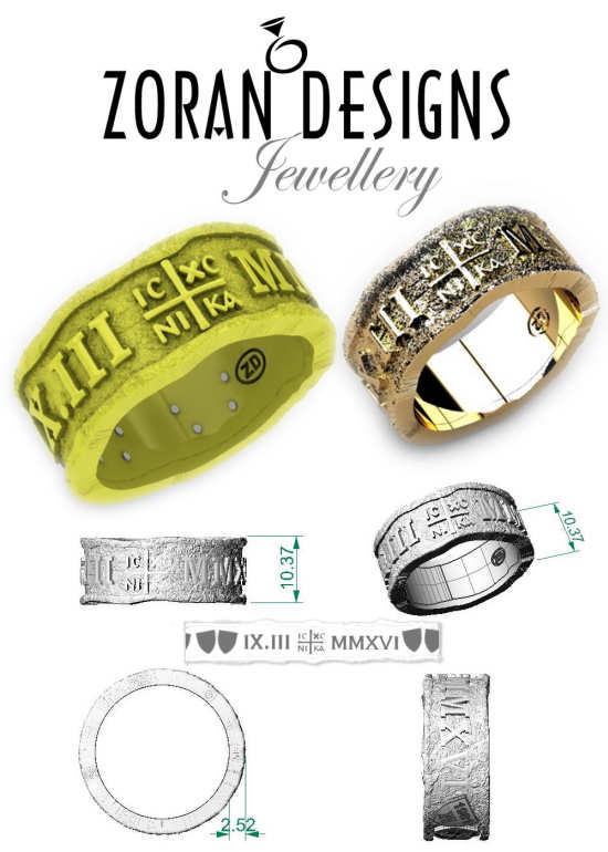 Custom design for one of a kind men's wedding band