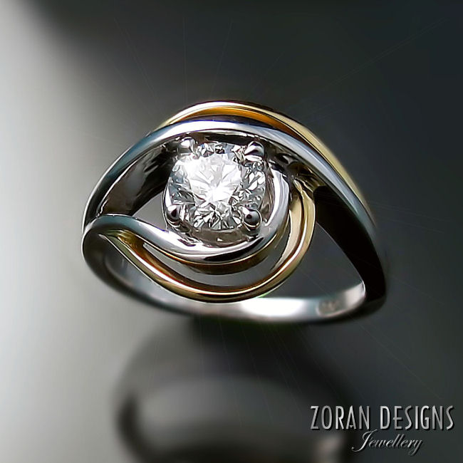 Unique modern engagement ring