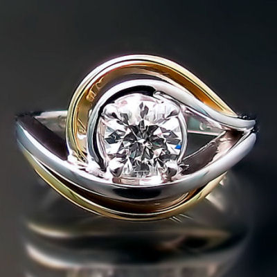 Custom engagement ring: modern design