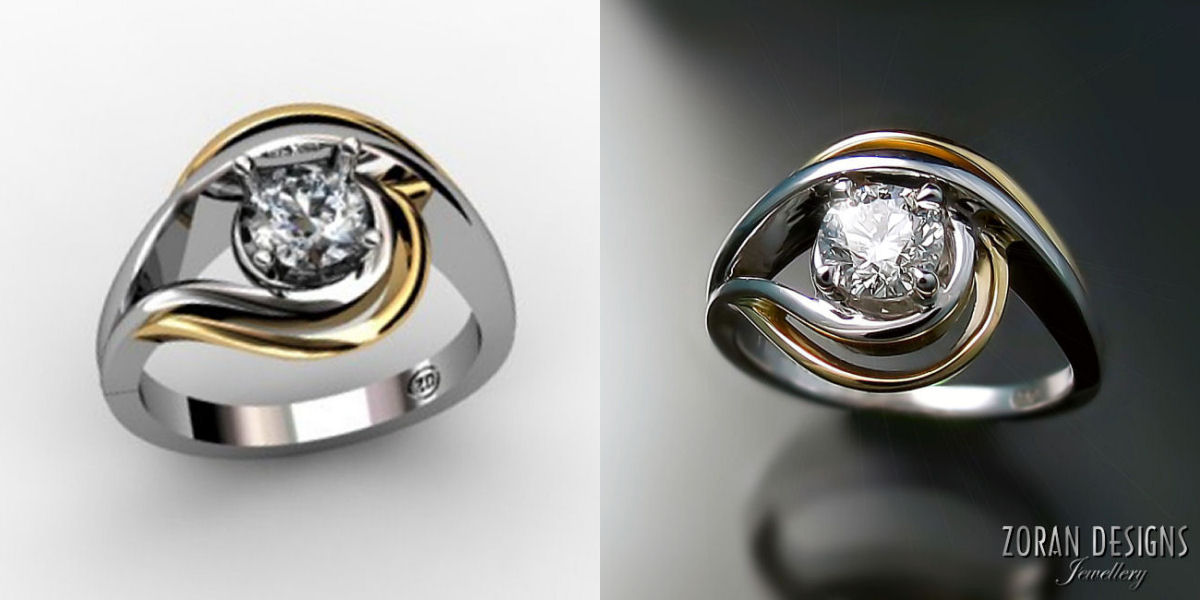 Unique, custom made engagement ring