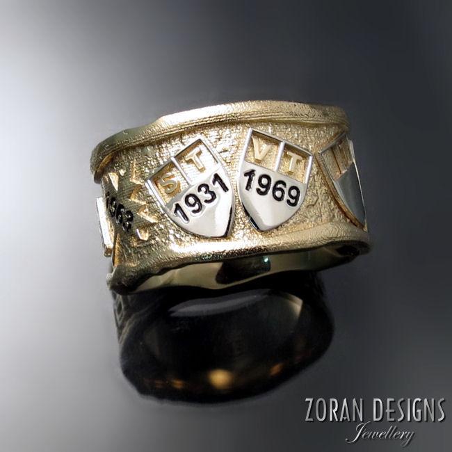 Bespoke men's family ring