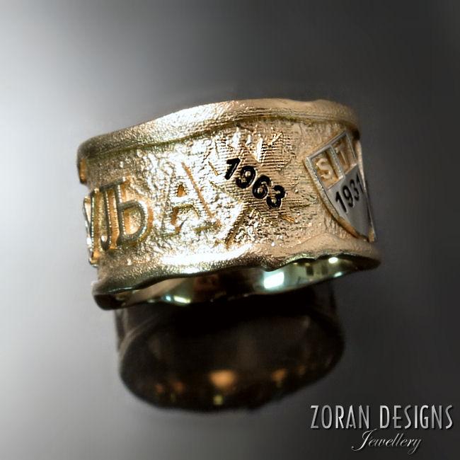 Custom made gents wedding rings
