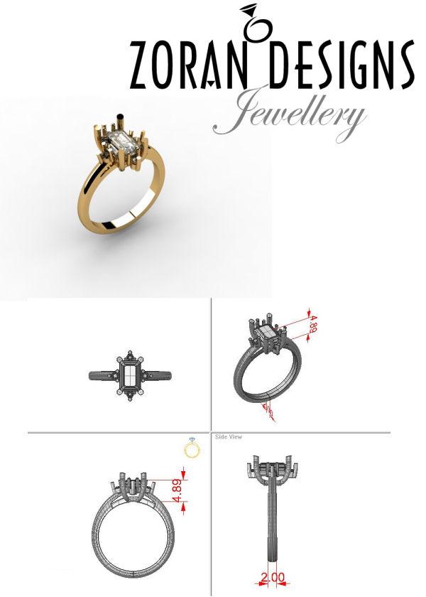 Engagement ring custom design