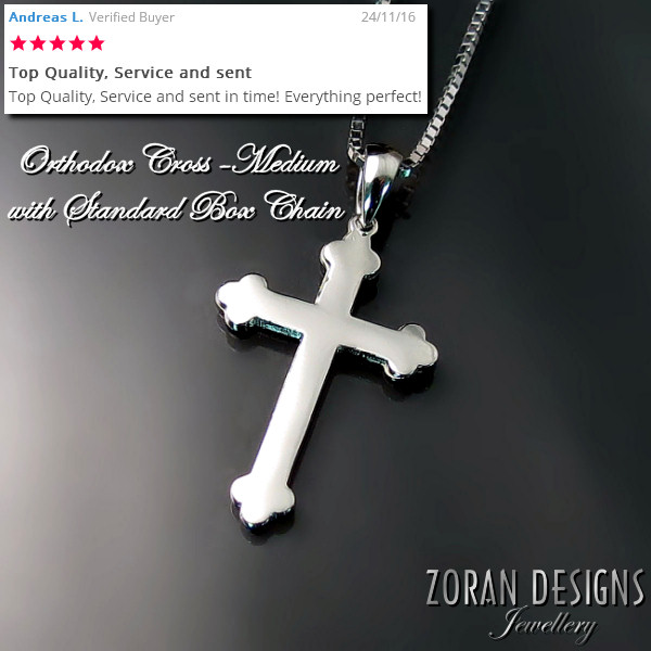 Eastern Orthodox cross and chain