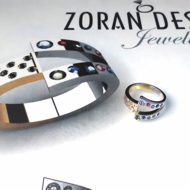 Custom made family ring