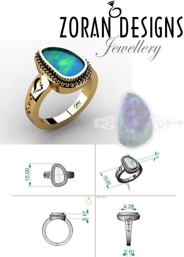 Custom design for Opal ring