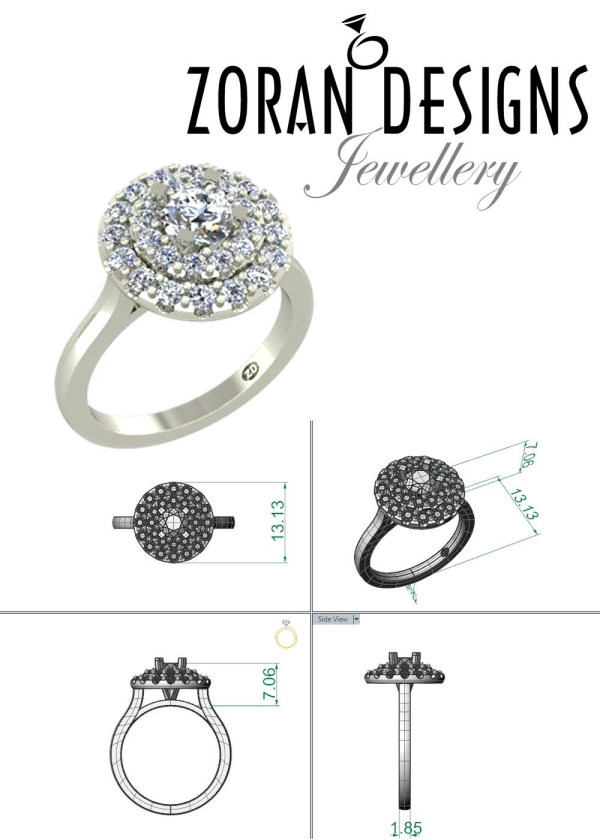 Custom engagement rings jeweller Hamilton, Ontario