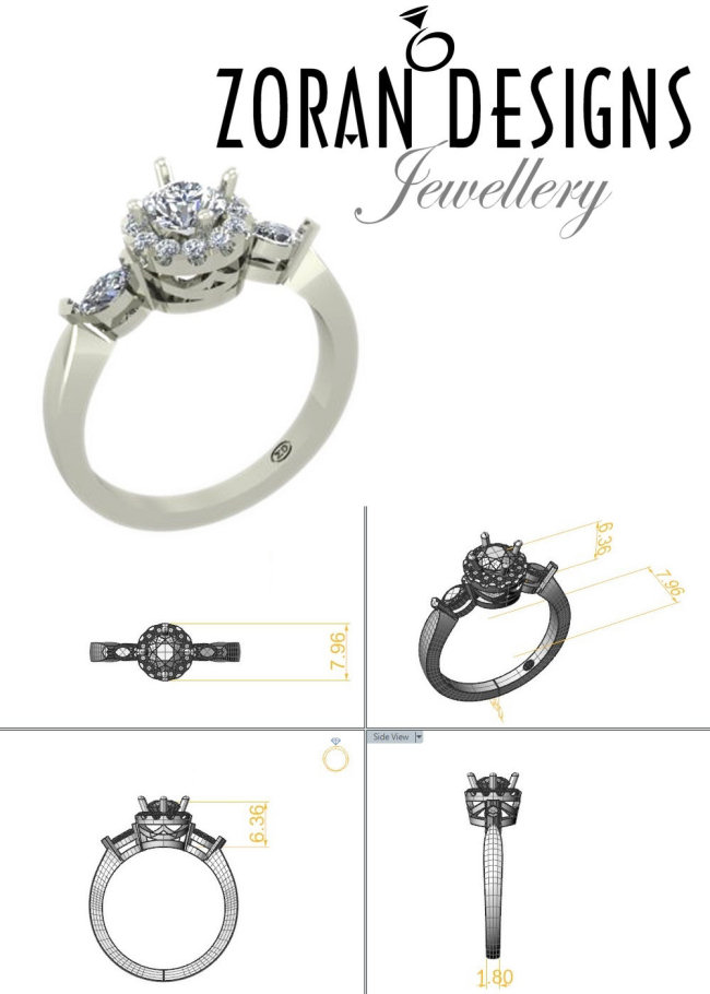 Engagement ring custom design