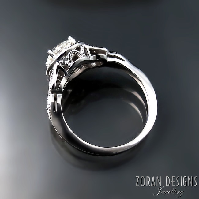 Engagement ring - side details