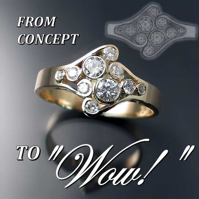 "Custom ring - from concept to ""Wow!"""