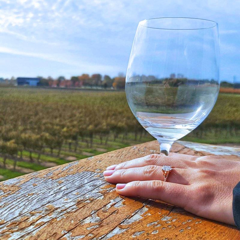 Niagara winery engagement - ring by Zoran Designs Jewellery, Hamilton ON