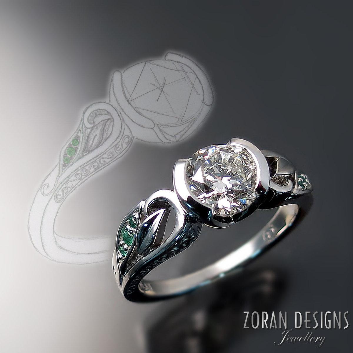 Creative custom design for unique engagement rings