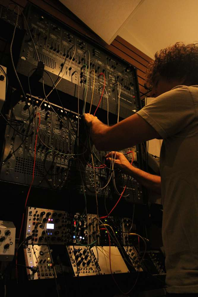 Anthony Marinelli programming and performing on 2 ARP 2600 vintage analog synthesizers with a custom Euro Rack modular system. Encino, CA, 2018