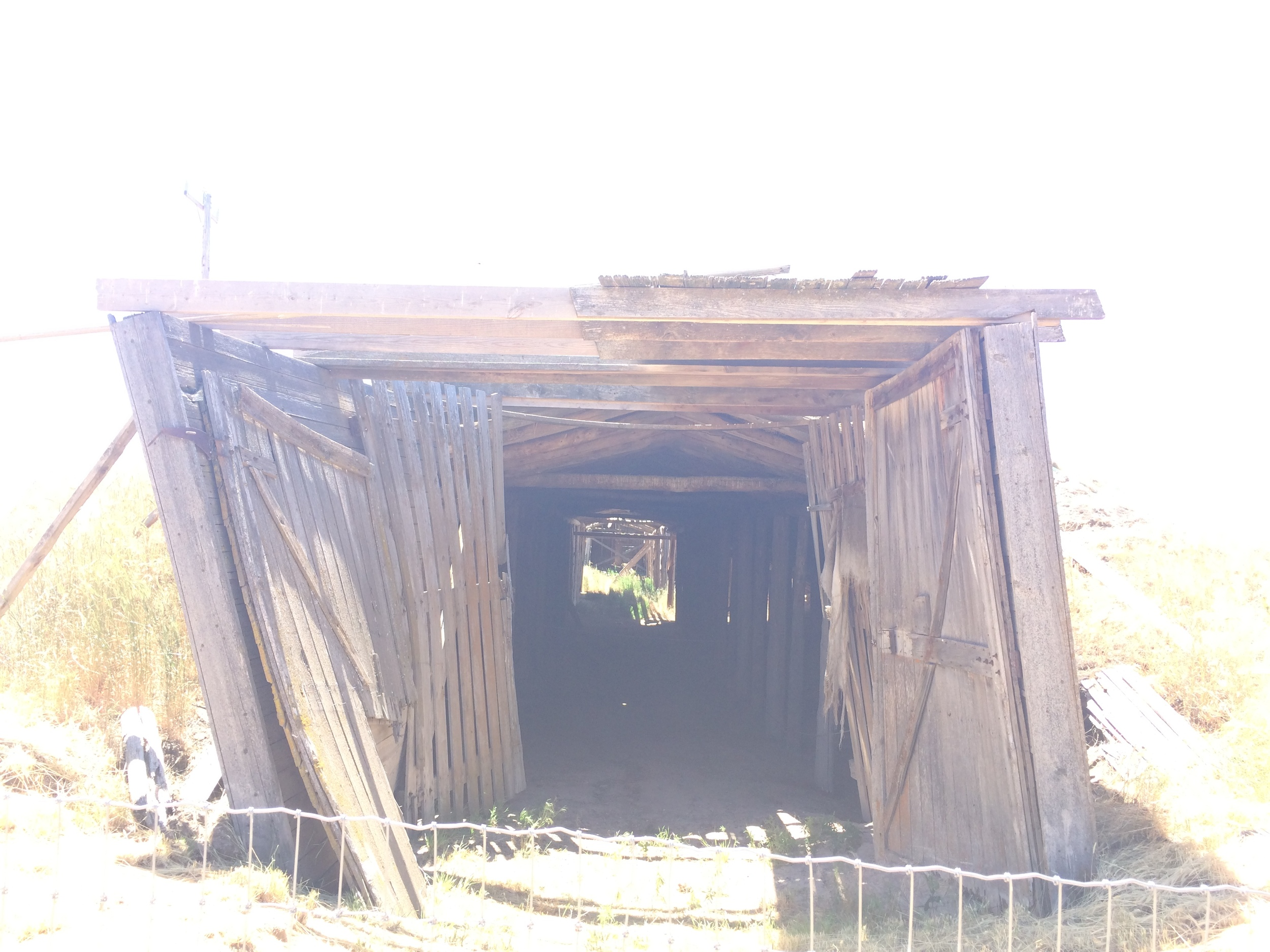 Minidoka Internment camp---this is a collapsing root cellar