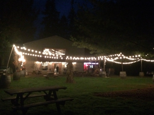 After all steps are complete, escape to a winery with a Jazz trio, food truck, and mood lighting.
