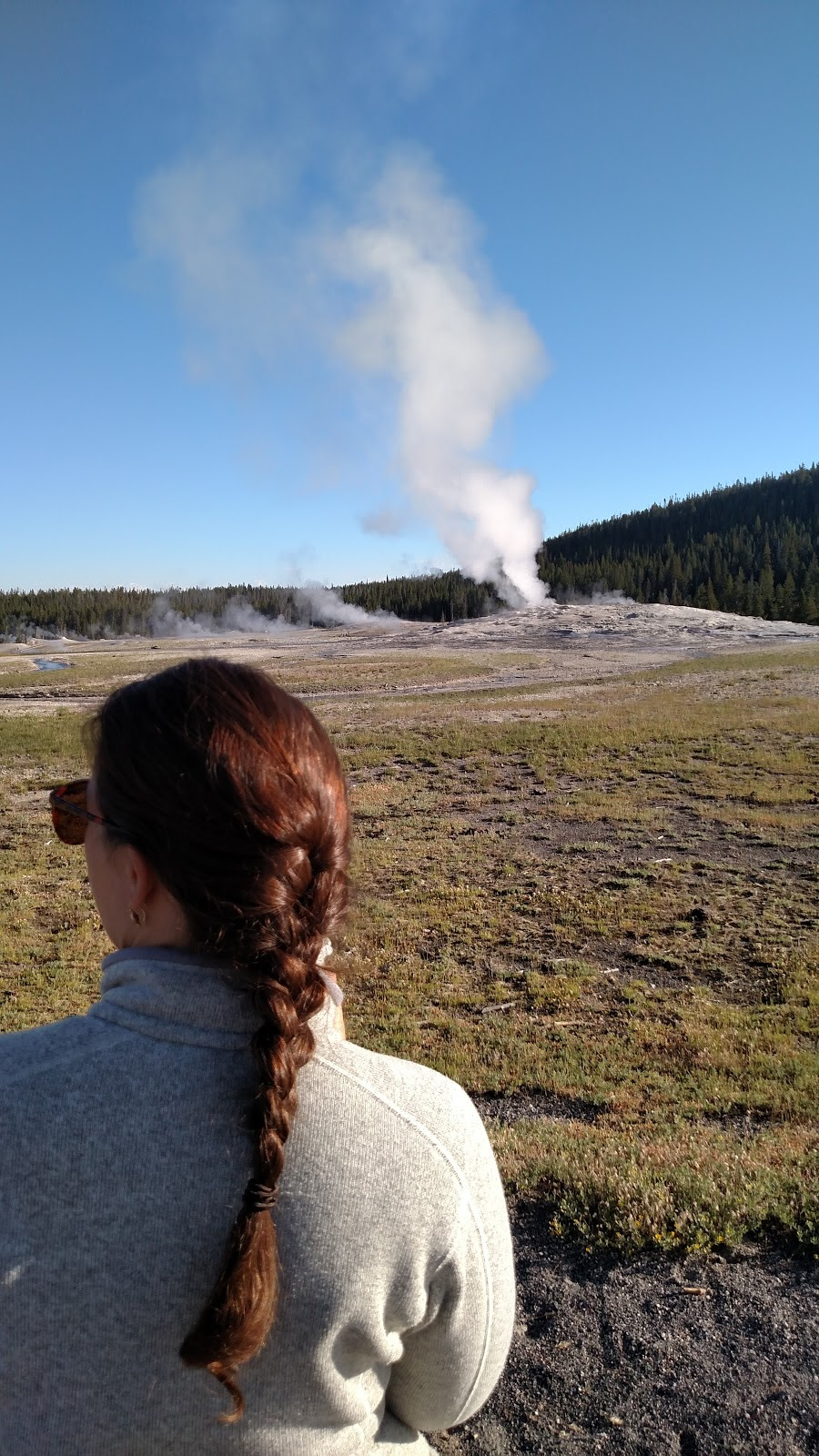 We didn't think Old Faithful was that cool, but we did like some of the other geysers, and coffee.